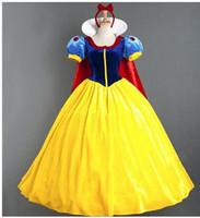 Wholesale Snow White Adult Cartoon - sexy Women Adult Halloween Cartoon Princess Snow White Costume For Sale white snow princess