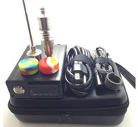 elektronische e nagel großhandel-E Nagel Kit Mit neuen Titan Nagel Glas Bong Elektronische Temperaturregler Box für DIY Raucher D Nagel Coil Wax Dry Herb Box Dabber