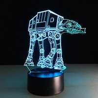 Wholesale insects robots for sale - Group buy Transport Robot Dog D Optical Illusion Lamp Night Light DC V USB Powered th Battery Dropshipping