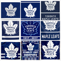 Wholesale Football Teams Flags - 150*90CM Toronto Maple Leafs Flag Stanley Cup Champions Flags Hockey Football Baseball Team Outdoor Banner National Polyester 3*5 FT Banner