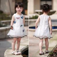 Wholesale white baby yarn for sale - girls fancy dress kids baby girl butterfly dress baby Yarn skirt D butterfly Children s vest skirt