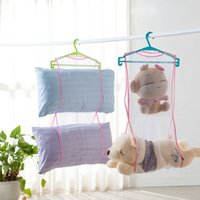Corde à linge de stockage à sec Mesh Sac Peluche Oreiller Shelf Creative Multi-usages séchage Storage Racks Lauudry Bag Hanger