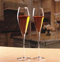 ingrosso tipi vini-Set di 6 calice da cocktail in cristallo, champagne e flauto senza piombo, adatto per il ristorante, la casa e ogni tipo di festa