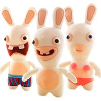 "Wholesale raving rabbits - Hot Adventure Rayman Raving Rabbids Stuffed Animals 20cm 8"" Cute Rabbit Plush Toys Doll Kids Soft Toys For Children Christmas Gifts"