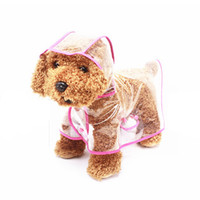 Wholesale Transparent White Umbrella - Dog Rain Clothes Cute Outdoor Transparent Rain Coat Clothes Beautiful Soft Waterproof Dog Clothes Dog Umbrella Rainy Keep Pet Dry A-008