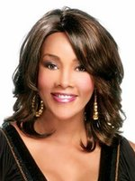 Wholesale Shoulder Length Wigs - Black Women Wig Fashion style PBlack Curly Synthetic Wig ure color Short Curly Wigs Shoulder Length Short Hair Wig