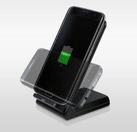 Wholesale Iphone Dock Support - Qi Wireless Charging Docks Charger Stand Wireless Transmitter Support Quick Charging For Samsung Galaxy S7 S8 Plus Note 5 7 iPhone X 8 Plus