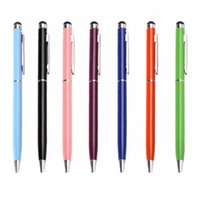 UK Best Metal 2in1 Stylus Ballpoint Pen Colorful Touch Pen Bullet mini metal capacitive touch Pen ballpoint writing pen DHL Free DHgate Mobile