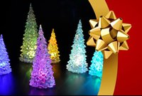 Wholesale Multi Changing Christmas Trees - Icy Crystal Color Changing LED Christmas Tree Decoration Light XMAS Night Light Good Quality Brand New Hot Sales