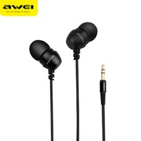 Wholesale Mp4 For Sale - Hot sale fashion Awei ES-Q8 Earphone Super Bass Noise Isolating Headphone For Cellphone Mp3 Mp4 for PC laptop Dynamic Stereo