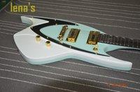 Wholesale China Cheap Guitar Free Shipping - free shipping blue guitar shaped 2017 electric guitar 6 strings custom shop Guitar Factory Cost-effective China HOT SALE Personal cheap