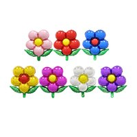 2 stücke Blumen Aluminium Folienballons diy Geburtstag Hochzeit Decor air Ballons Baby dusche Party Supplies Kinder Spielzeug Fotografie Prop