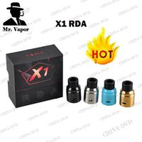 Wholesale Cloud Material - Vaperizer Cloud X1 RDA Clone Atomizers 304 Stainless Steel Material Unique Design X1 Vaperz rda Atomizer fit 510 E Cigarette Box Vape Mods