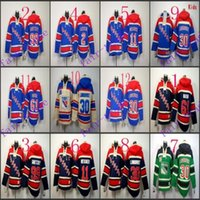 Wholesale Dark Grey Hoodie Men - Stitched New York Rangers Hoodie #11 Messier 30 LUNDQVIST 61 Nash 99 Gretzky NhL hockey Cream Dark Blue Jerseys Ice Jersey ,Hoodie Mix Order