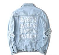 chaqueta 424 kanye west al por mayor-hip hop 2016 chaquetas y abrigos para hombre 3 ropa de marca jean apenada chaqueta de mezclilla ropa de hombre mujer 424 pablo kanye west