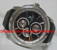 Wholesale Mens Masterpiece Watch - Wholesale - Luxury Maurice Lacroix Masterpiece Black Wristwatch Chronograph Dive Sport Mens Watch Men's Watches
