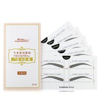 Wholesale Sticker Eyebrows - 30Pairs pc Lameila Temperament Password Eyebrow Styles Sticker Universal Eyebrows Shaping Tool Creative Makeup Stencils for Brow Shapes