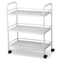 Wholesale Three Layer Flooring - White Salon Trolley Cart Shelves