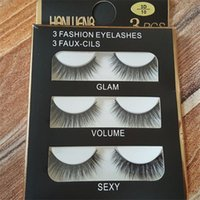 2017 Hot Magic 3D 3D Falsche Wimpern Falsche Wimpern 3D-10 GLAM, VOLUME, SEXY 3 Stück / Set