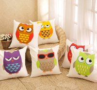 Wholesale owl handmade pillow - 6 styles Owl Sofa Cushion Covers Owl Face Expression Cartoon Pillow Case Pillow Covers Children Favor Wedding Decoration Free Shipping