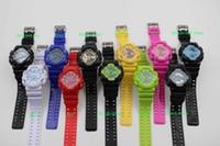 Wholesale Silicone Jelly Belts - 10PCS hot new Fashion Sport Watch, Jelly Silicone G Sports Wristwatch, G100 Ga110 Digital Watches