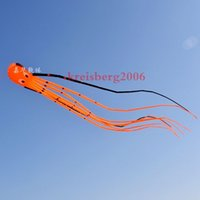 parafoque de una sola línea al por mayor-3D 12m Single Line Stunt Parafoil Octopus POWER Sport Kite juguete divertido al aire libre