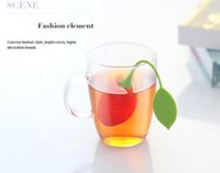 Venta al por mayor de la venta caliente de la bolsita de té de silicio precioso Strawberry Tea Colador filtro Infuser Lemon Style Tea Bag Coffee tools envío gratis