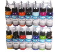 Wholesale Eyebrow Cosmetic Tattoo Ink - 14 colors  Lot tattoo ink set pigments permanent makeup 30ml cosmetic color tattoo ink for eyebrow eyeliner lip