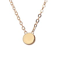 Wholesale Karma Circle - Bridesmaid Gift Silver Gold Plated Circle Pendant Colar Geometric Simple Necklace Round Karma Necklaces For Women Packed with card