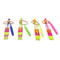 fontes da festa de anos dos miúdos venda por atacado-Novidade Crianças Brinquedos Incrível LED Flying Arrow Helicóptero para Esportes Engraçado Estilingue festa de aniversário suprimentos de Presente Das Crianças