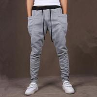 Wholesale Crotch Man - 8 Colors Unique Pocket Mens Joggers Cargo Men drop crotch pants Baggy Sweatpants Harem Pants Men Jogging Sport Pants Men Pantalones Hombre