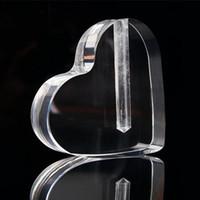 Wholesale Heart Flower Vase - 2016 plastic holder heart shape vase and moon shape vase for flower display Acrylic stand
