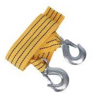 Wholesale Towing Straps Wholesale - Wholesale-Car 3M 3 Ton Tow Cable Heavy Duty Towing Pull Rope Strap Hooks Road Recovery Towing Ropes