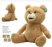Wholesale Cheap Toy Bears - Wholesale cheap 60cm Teddy Bear Ted The Movie X R Plush Dolls ted bear toy & Free Shipping