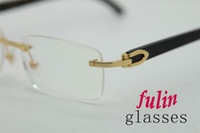 Wholesale Cattle Brands - Brand Glasses-2016 New Men Women General Buffalo Eyewear natural white Cattle Horn Glasses T8100907 eyewear Myopia frame Size: 54-18-135mm