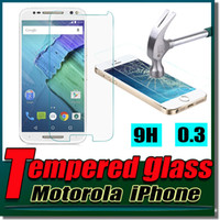 Wholesale Iphone G Screen Protector - 9H Explosion Proof Premium Tempered Glass Screen Protector Protective Film Guard For iPhone 7 Plus 4.7 5.5 inch MOTO G G2 G3 X2 X Play E E2