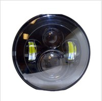 Wholesale Round Led Headlights - 40W 7Inch 4D Round Black H4 H13 LED Light OffRoad Work Light for jeep wrangler Headlights hot selling