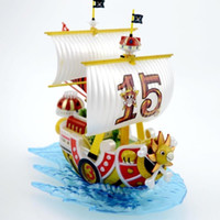Wholesale One Piece 15th - Good gifts Anime One Piece Ship Collection Thousand Sunny 15th Anniversary Version boat Model Assembly kit figure