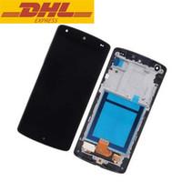 numériseur d'écran nexus lcd achat en gros de-100% garantie pour LG Google Nexus 5 D820 D821 LCD avec écran tactile Digitizer Frame assemblage en gros
