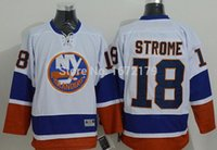 BATTERIE 2015 NOUVEAUX MENS NEW YORK ISLANDERS # 18 RYAN STROME WHITE AWAY PREMIER STITCHED NY ISLANDERS HOCKEY JERSEYS SHIRTS