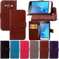 Wholesale Galaxy Mini Flower Case - For LG LS770  Galaxy J2 J120 J310 J1 Mini Lucky Clover Flower Wallet PU Holder Stylish Leather Flip Cover Case Stand Card Slot Skin Pouch