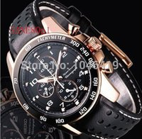Wholesale Battery Signs - Free shipping new men's black surface SANE80P1 leather strap Chronograph + sign