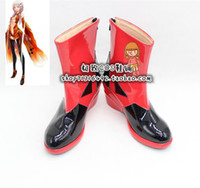 Wholesale Inori Yuzuriha Cosplay - Wholesale-Guilty Crown Inori Yuzuriha Red & Black Cosplay Boots shoes new version #JZ038 Custom made hand made