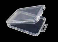 hafıza kutusu kartları toptan satış-Küçük Kutu Koruma Kılıfı Kart Konteyner Hafıza Kartı Kutuları Aracı Plastik Şeffaf Depolama Taşıması Kolay Pratik Yeniden