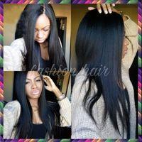 Wholesale Blonde Yaki Full Lace Wigs - 2016 Wholesale Price Yaki Straight Full Lace Human Hair Wigs Glueless Full Lace Front Wigs Brazilian Virgin Hair Wigs