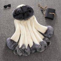 Wholesale Fake Mink Coats - Winter Women Faux Fox Mink Fur Coat Woman Luxury Medium Long Fake Fur Coats Mujer Female Overcoat Ladies Plus Size 4XL