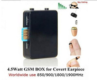 Wholesale Exam Earpiece - 4.5 Watt Powerful GSM Box remote wireless exam talking GSM BOX built-in mic with quality covert 218 earpiece 10pcs DHL Free