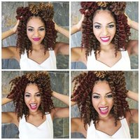 Wholesale Kanekalon Curly - 1pcs lot!Havana Mambo Twist Crochet Braid Hair Senegalese Twist Hair Crochet Hair Kanekalon Kinky Marley Twist Braids