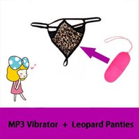Wholesale Sexy Ladies Underwear Sex - Vibrators Sex Toy for Women Wireless Remote Control Vibrators + Ladies Sexy Thong Panties Underwear 20 Speeds MP3 Waterproof Vibrator