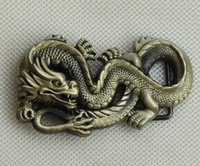 Wholesale Chinese Fashion Belts - Chinese Dragon Broze Color Belt Buckle